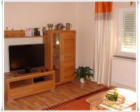 Living room and bedroom with television